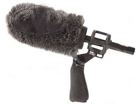 1 x Senheiser MKH60 shot gun directional microphone with SOFTIE wind shield, grip and boom
