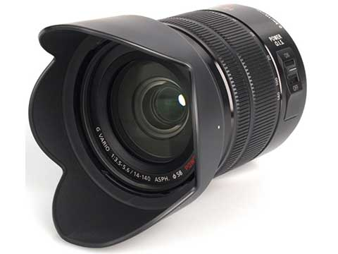 Panasonic 14-140 zoom Micro Four Thirds • a 35 mm equivalent of 28-280 mm • with POWER Optical Image Stabiliser (O.I.S.)