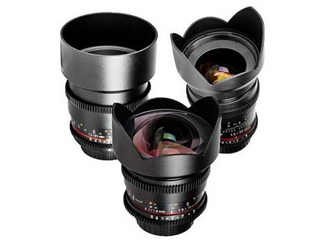 3 x cine prime lenses kit - Canon fit  • Samyang 35mm T1.5 • Samyang 85mm T1.4 • Samyang 8mm T3.8 • Metabones Speed Booster